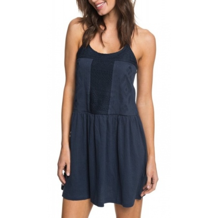 Obleka Roxy WHITE BEACHES - Btk0 Dress Blues